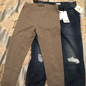 NWT! Girls pants! Hudson Girl joggers and Polo